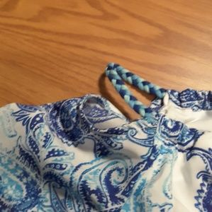 emily west Bottoms - Mackenzie X Emily West blue paisley romper sz 8